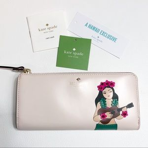 Kate Spade Hawaii Exclusive Leather Pink Wallet